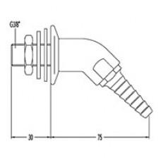 Выпускной патрубок для природного газа и выносной вентиль 12324-2/12310-0
