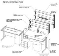 варианты комплектации лабораторных столов